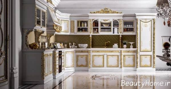 دکوراسیون شیک آشپزخانه سلطنتی