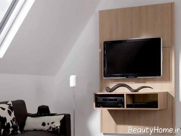 طرح زیبای دیوار پشت تلویزیون