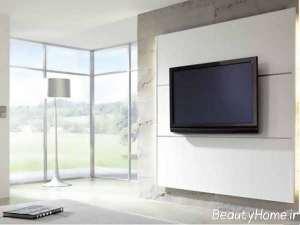 رنگ سفید دیوار پشت تلویزیون