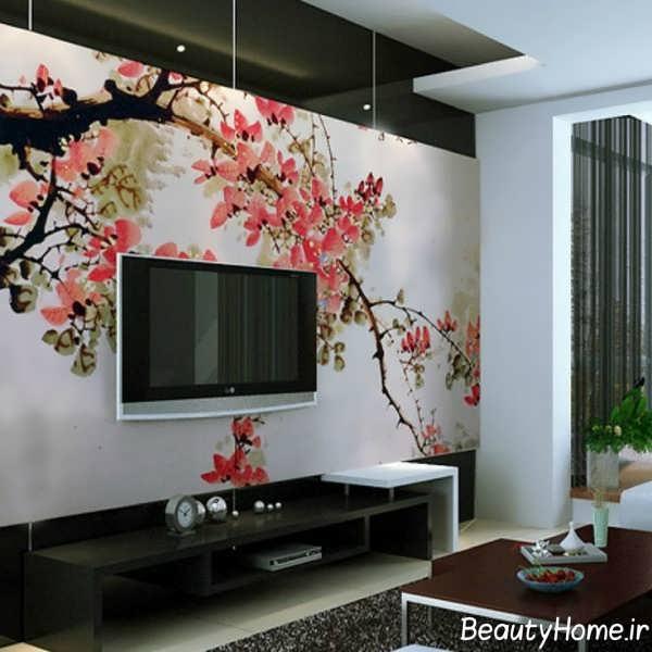 طرح زیبا برای برجسته سازی دیوار پشت تلویزیون