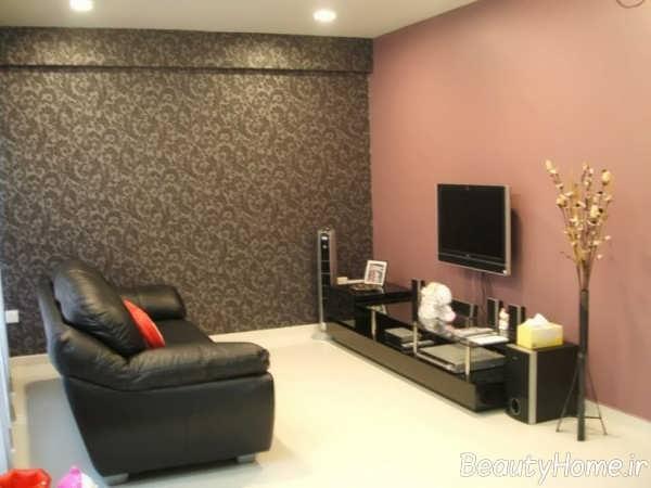 رنگ فوق العاده برای دیوار پشت تلویزیون