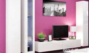 دیزاین رنگی دیوار پشت تلویزیون