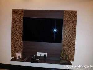 طراحی زیبای دیوار پشت تلویزیون