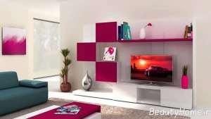 طراحی متفاوت دیوار پشت تلویزیون