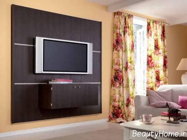 برجسته سازی دیوار پشت تلویزیون