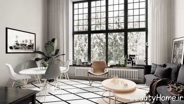 دیزاین مدرن اتاق پذیرایی
