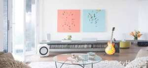 طراحی ظریف اتاق نشیمن سفید