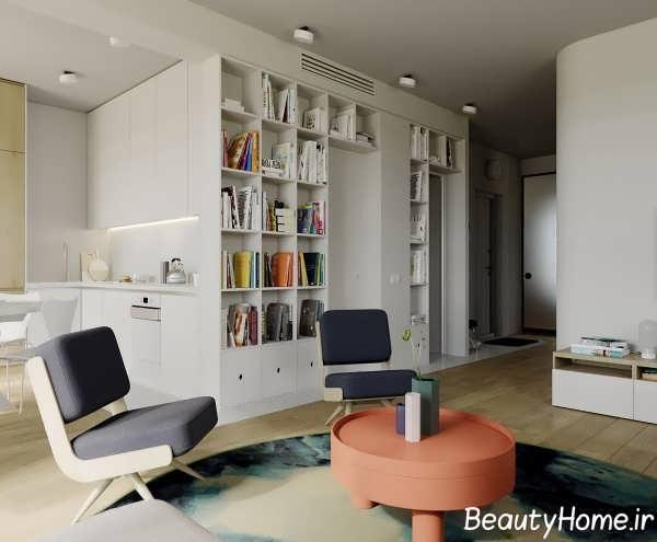 طراحی مدرن اتاق پذیرایی