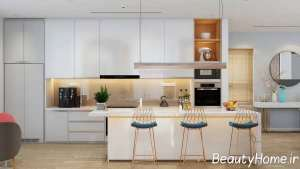 دیزاین شیک و متفاوت آشپزخانه