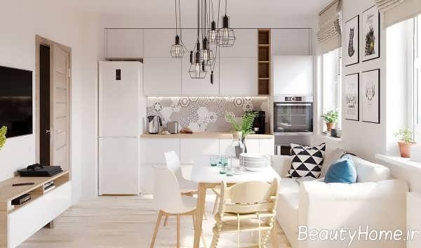 تم سفید در آشپزخانه زیبا