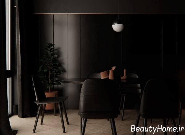 دیزاین تیره میز ناهارخوری