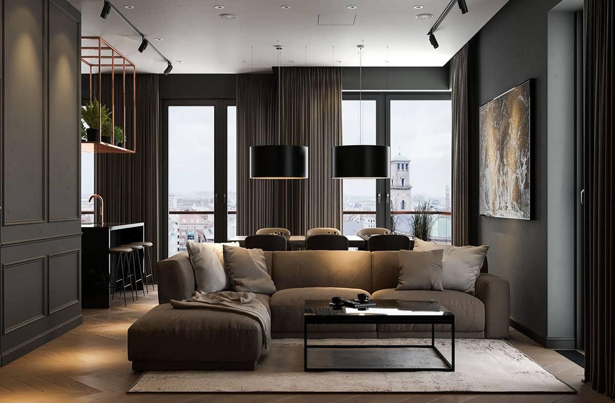 تصاویر طراحی داخلی تیره برای خانه های مدرن