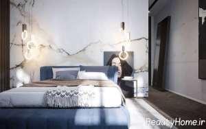 طراحی داخلی اتاق خواب با تم تیره