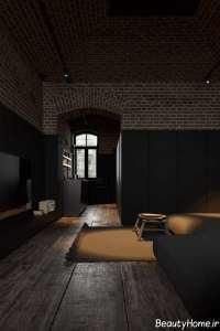 طراحی فوق العاده منزل با تم تیره