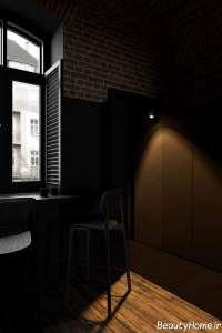 طراحی داخلی منزل با تم تیره