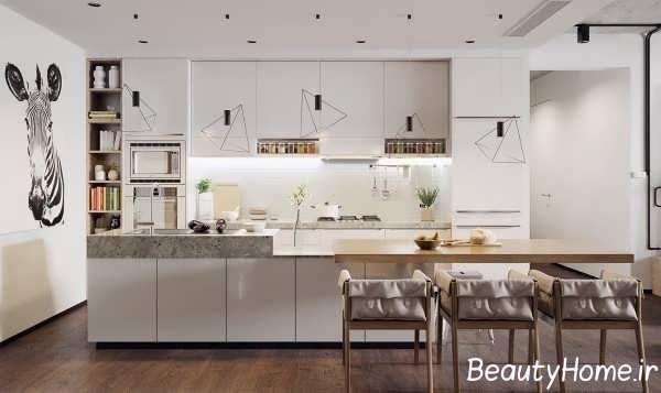 دیزاین جذاب آشپزخانه