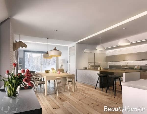 طراحی ظریف آشپزخانه به سبک اروپایی