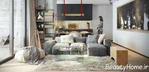 دیزاین خلاقانه اتاق پذیرایی