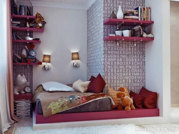 تزیین زیبا و ساده اتاق خواب دخترانه