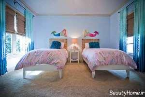 دکوراسیون زیبا و شیک اتاق خواب دخترانه