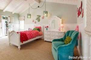 دکوراسیون اتاق خواب دخترانه با وسایل ساده و شیک