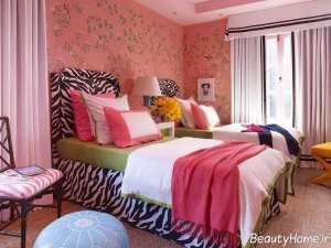 دکوراسیون ساده و شیک اتاق خواب دخترانه