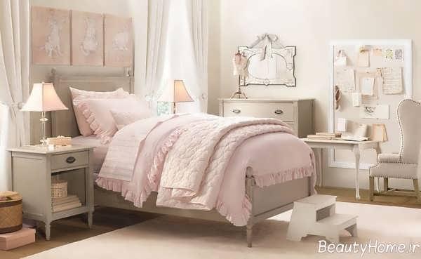 دکوراسیون داخلی اتاق خواب دخترانه با وسایل ساده