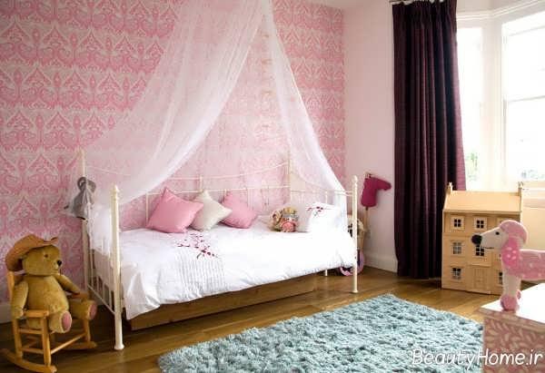 تزیین اتاق خواب دخترانه با تور