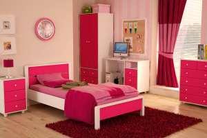 دکوراسیون اتاق خواب دخترانه با وسایل ساده