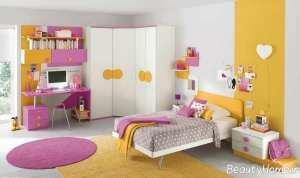 دیزاین اتاق خواب دخترانه با وسایل ساده
