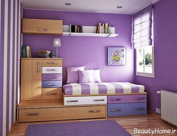 طراحی دکوراسیون اتاق خواب دخترانه