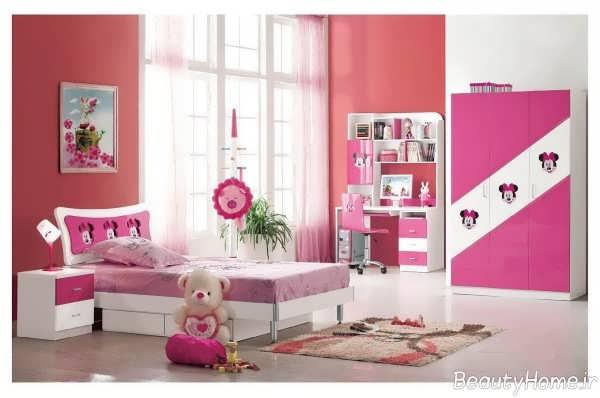دکوراسیون زیبا و ساده اتاق خواب دخترانه