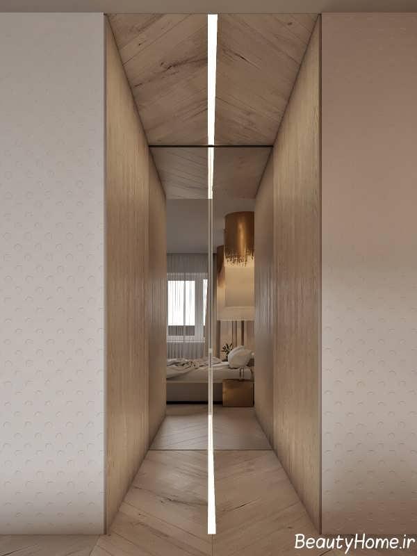 طراحی عالی اتاق با تم طلایی