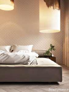 اتاق خواب با تم طلایی