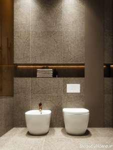 طراحی سرویس بهداشتی با تم طلایی