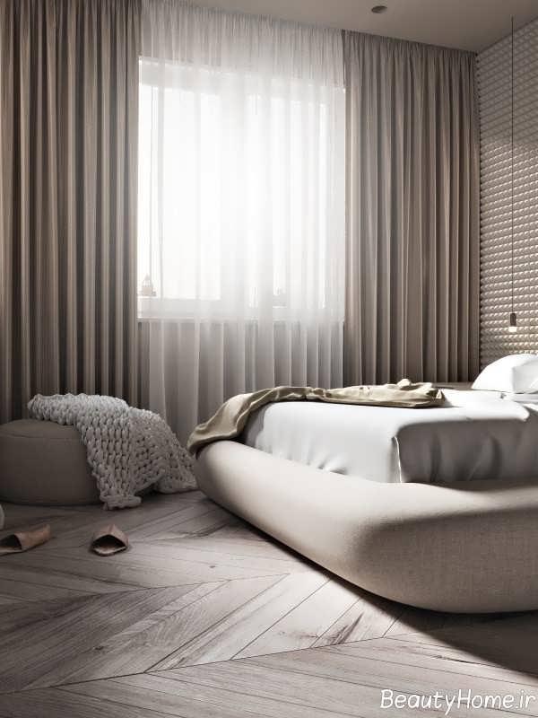 دیزاین زیبای اتاق خواب با تم طلایی