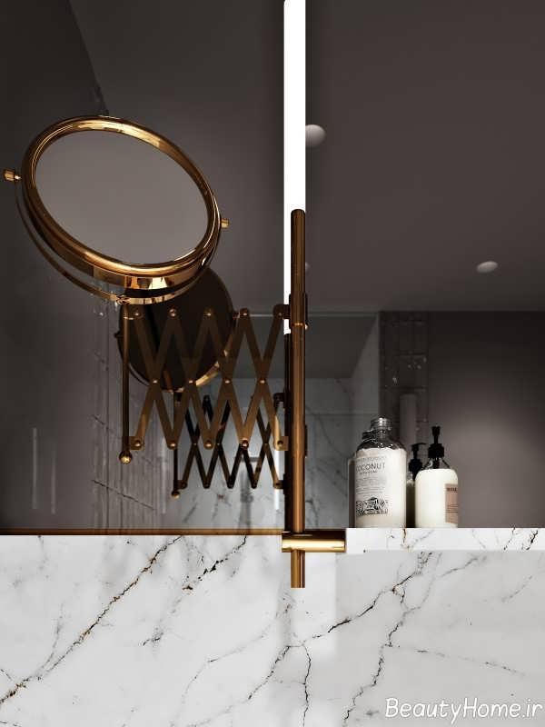 طراحی بی نظیر در منزل با تم طلایی
