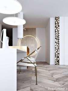 طراحی ایده آل منزل با رنگ طلایی