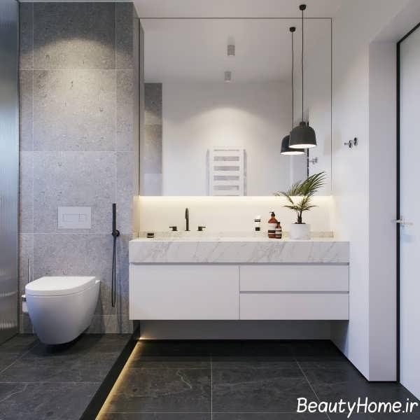 Black Gray Bathroom Ideas: حمام های مدرن خاکستری و سفید برای خانه های لاکچری
