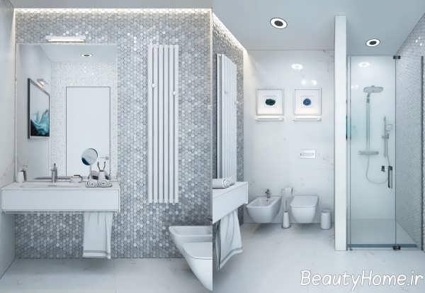 حمام سفید و خاکستری