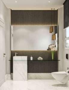 طراحی ایده آل حمام با م سفید