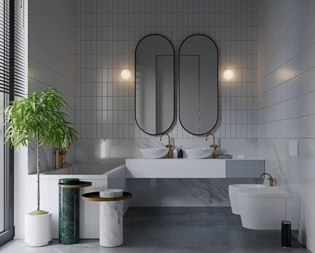 5 Gorgeous Scandinavian Bathroom Ideas: حمام های مدرن خاکستری و سفید برای خانه های لاکچری