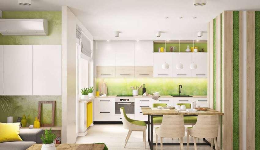آشپزخانه با تم سبز