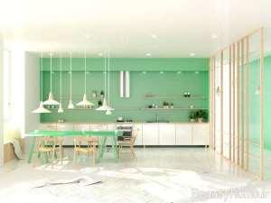 دکوراسیون عالی آشپزخانه با تم سبز