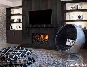 طراحی دکوراسیون شیک و زیبا اتاق نشیمن