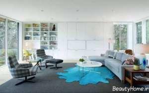 دکوراسیون ساده و مدرن اتاق نشیمن