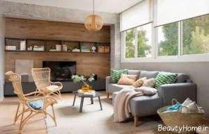 طراحی داخلی شیک برای اتاق نشیمن