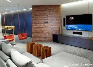 طراحی داخلی اتاق نشیمن شیک و زیبا