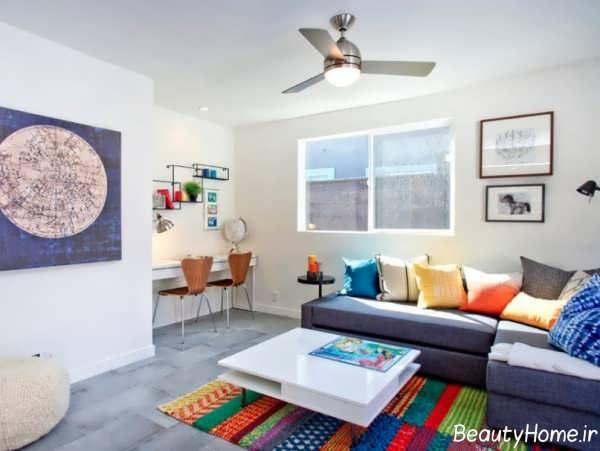 طراحی داخلی مدرن و زیبا اتاق نشیمن