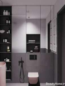 طراحی زیبای اتاق با تم خاکستری